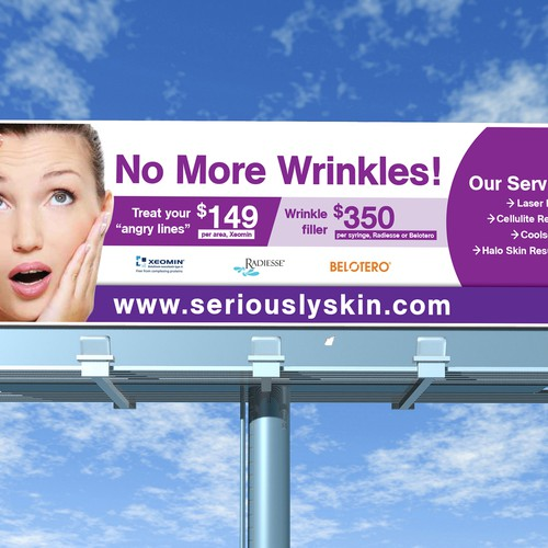 Creative Summer Billboard For A Cosmetic Laser Medispa