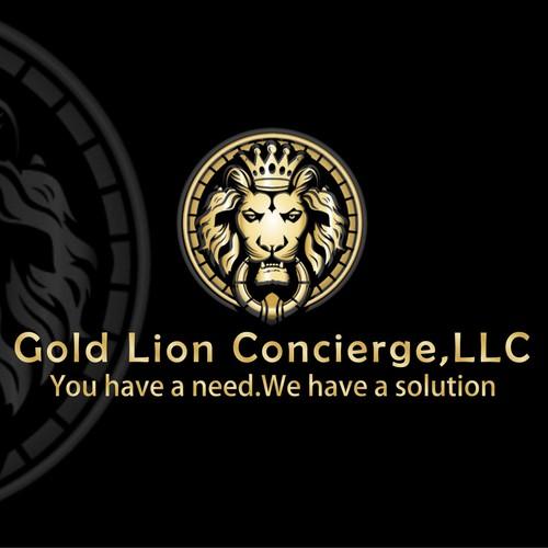 Create An Innovative Gold Lion Door Knocker Logo For Gold