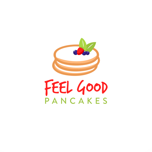 feel good pancakes needs a logo design logo social. Black Bedroom Furniture Sets. Home Design Ideas