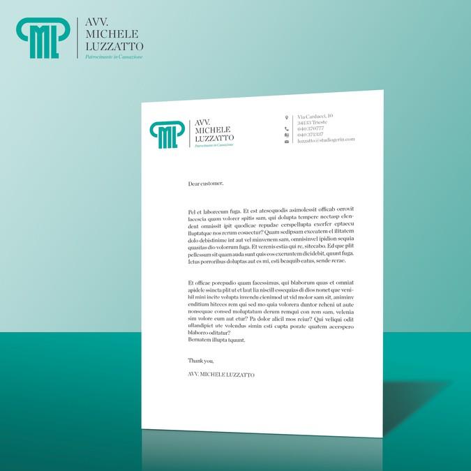 carta da lettera per studio legale headed letter paper for