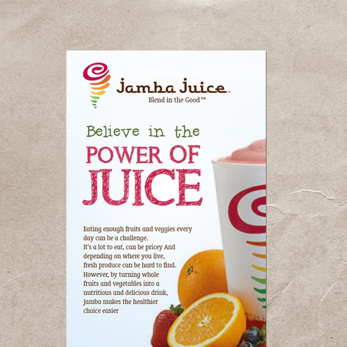 Create an ad for Jamba Juice Design by _Blue_