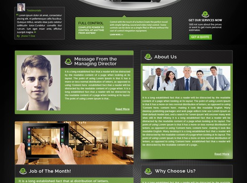 web page design in  - 7