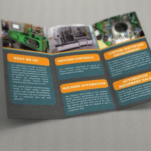 Design a Tri-Fold Brochure for High Tech Automation Company