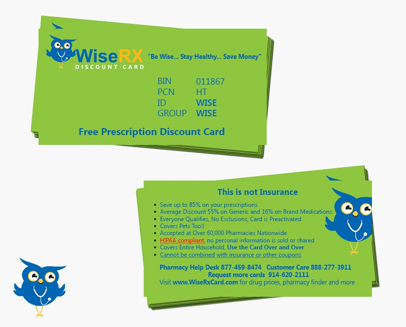 Create a Prescription Discount card... all info and Logo included ...