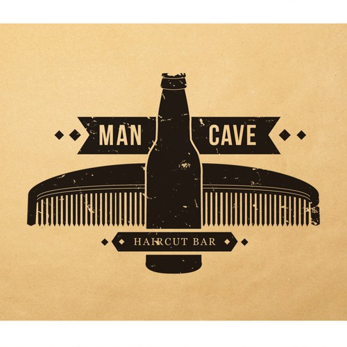 Man Cave Haircut Bar : New logo wanted for the man cave haircut bar design
