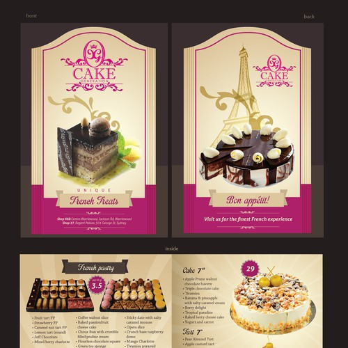 New postcard or flyer wanted for Cake Generation Design by Alina's