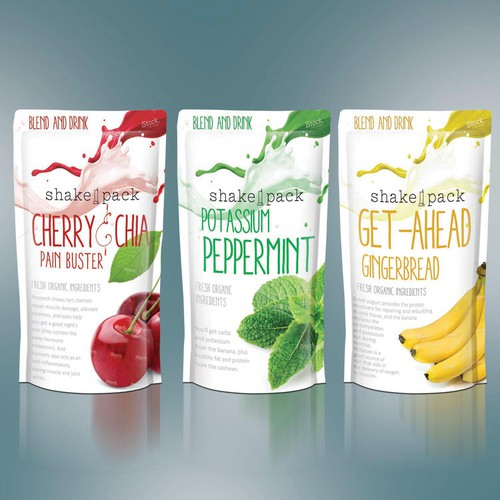 Protein Shakes Needed: New Health & Fitness Brand Needs Package Label Design For