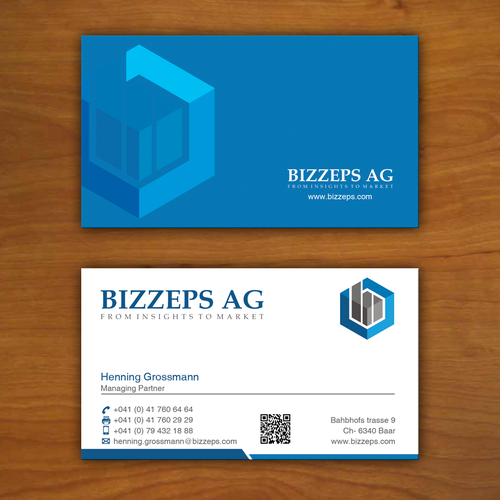 Bizzeps ag new vcard design business card contest runner up design by sfdesign colourmoves