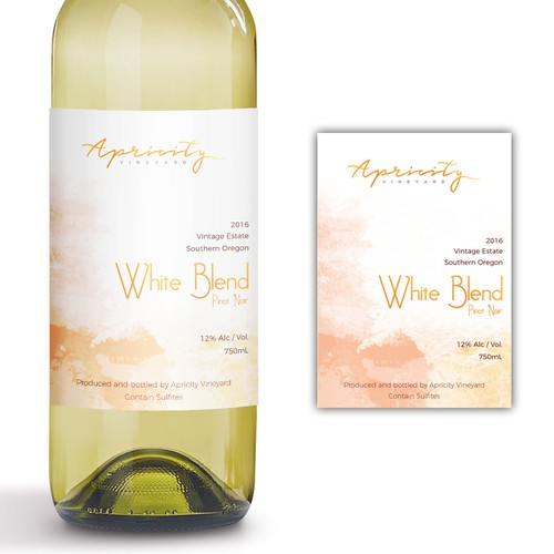 Apricity Vineyard 2016 White Blend Wine Label Design by giovannigiga