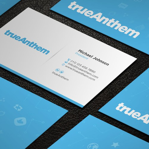 Business cards for innovative tech startup business card contest runner up design by designstribe reheart Image collections
