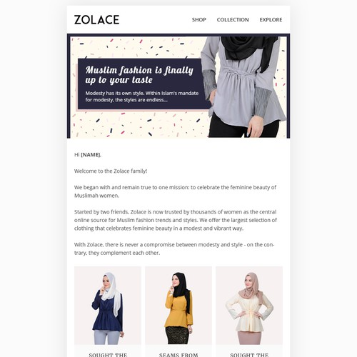 Design Mobile Desktop Email Template For Women Fashion Boutique Email Contest 99designs