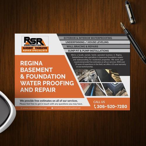Rsr Construction Spring Flyer Postcard Flyer Or Print Contest