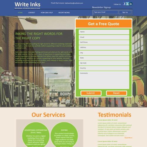 Runner-up design by Web Design Solutions