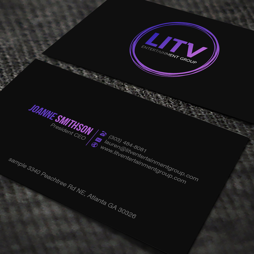 Design a sophisticated yet edgy business card for an entertainment runner up design by oeingartmindz colourmoves