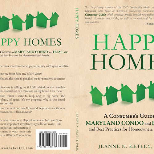 Happy Homes A Consumer S Guide To Maryland Condo And Hoa Law And Best Practices For Homeowners Book Cover Contest 99designs