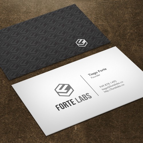 Clever business card combining productivity design thinking forte runner up design by xclusive16 colourmoves Choice Image