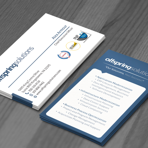 Help offspring solutions with a new business card business card entries from this contest colourmoves