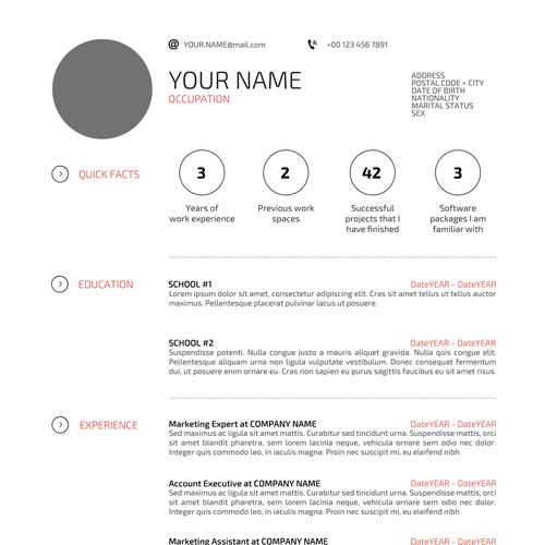 Design di Help applicants get that job with your magnificent resume design di TenSnake