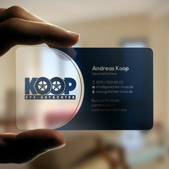 Visitenkarten Für Kfz Sachverständigenbüro Business Card
