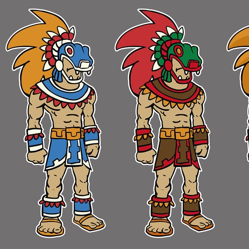 Cartoon Character Design Competition : Mayan bad ass character cartoon dude or mascot
