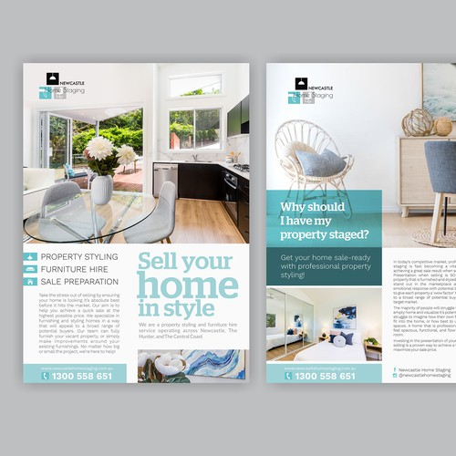 Design Double Sided Flyer For Newcastle Home Staging
