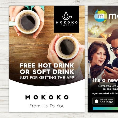 Design marketing collateral for an innovate loyalty app Design by Silvia Jordanova