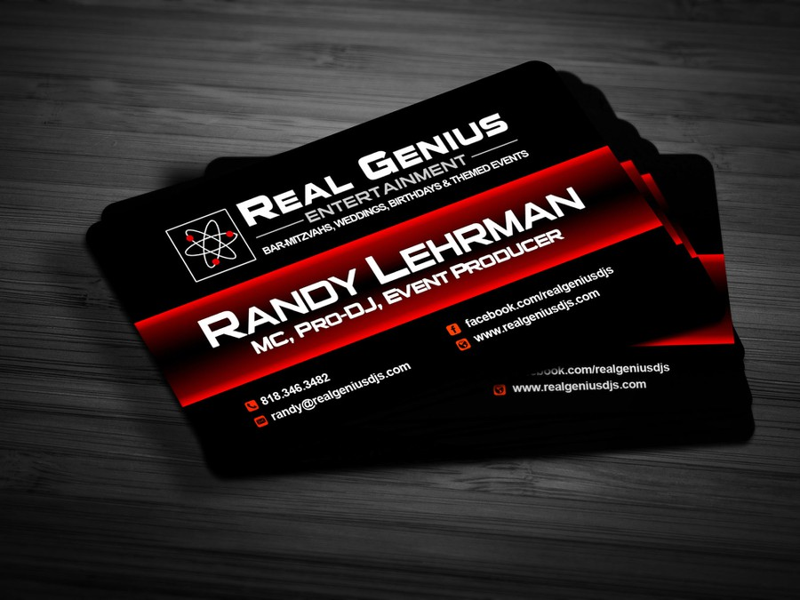 Create the winning logo to Real Genius Entertainment: Voted #1 DJ in ...