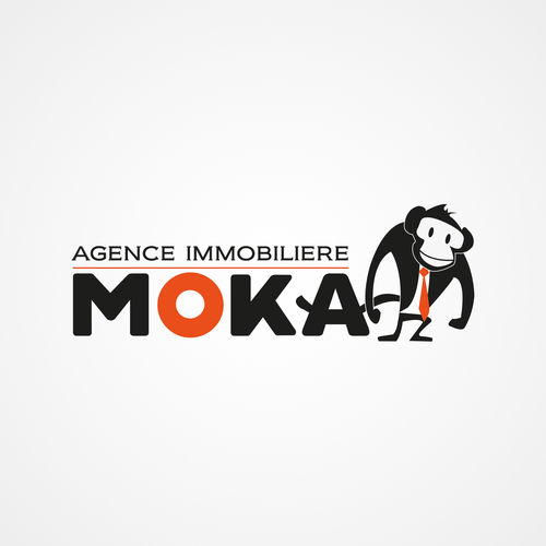 Logo et carte de visite pour l 39 agence immobiliere moka for Agence immobiliere 4
