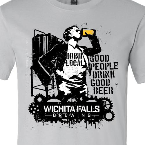 Industrial street art brewery shirt t shirt contest for Industrial design t shirt