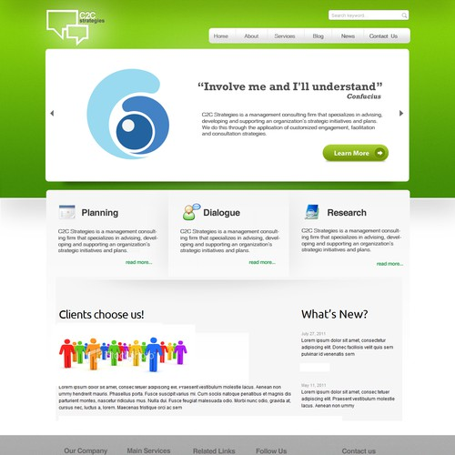 New Website Design Wanted For C2c Strategies Web Page Design Contest 99designs