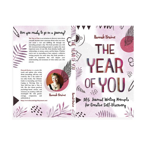 Design a book cover for a book of 365 journaling prompts Ontwerp door Grace Andersson