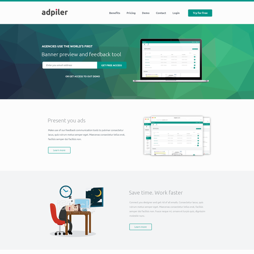 Diseño finalista de Web Alpha