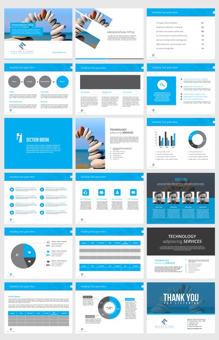 powerpoint template for professional sales organization その他コンペ