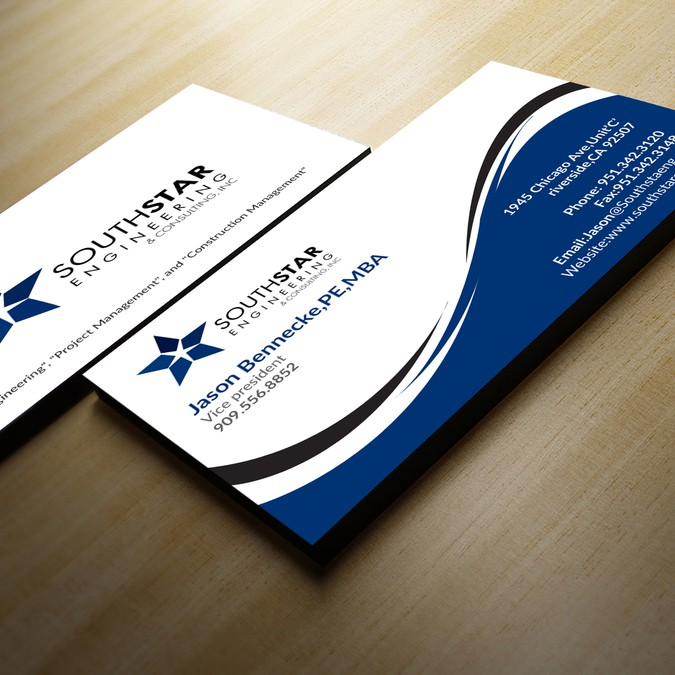 Business Card Design For Leading Engineering Firm In Southern