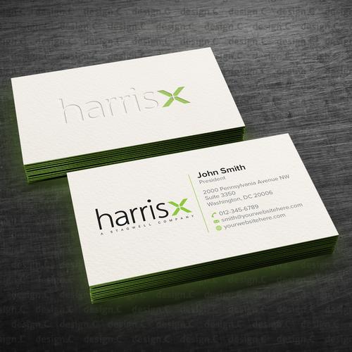 Harrisx business cards concurso carto de visita design finalista por designc reheart Gallery