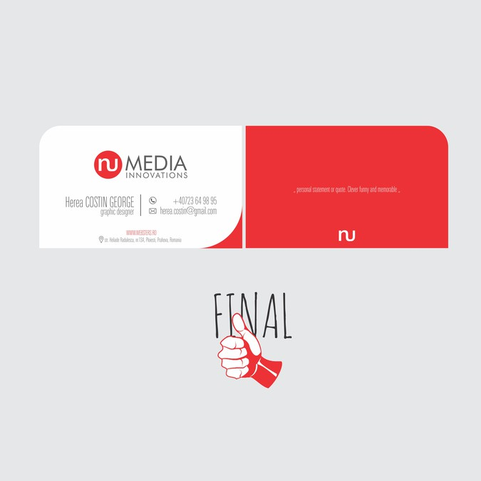 Winning design by Herea Costin