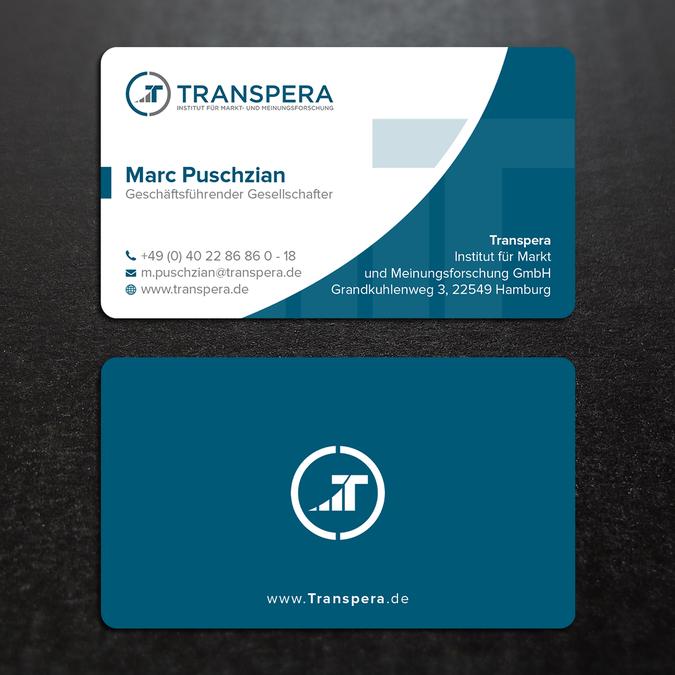 Visitenkarte Für Ein Marktforschungsinstitut Business Card