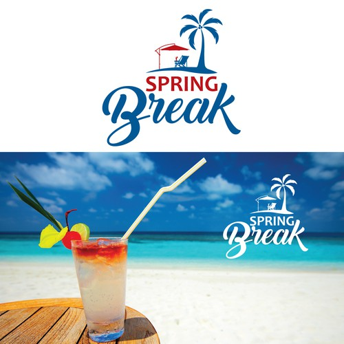 let 39 s take a break a spring break logo design contest. Black Bedroom Furniture Sets. Home Design Ideas