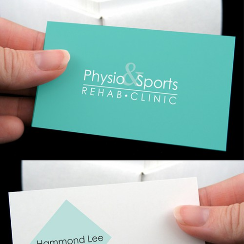 Logo and business card for physio sports rehab clinic logo runner up design by beatrix kiddo colourmoves