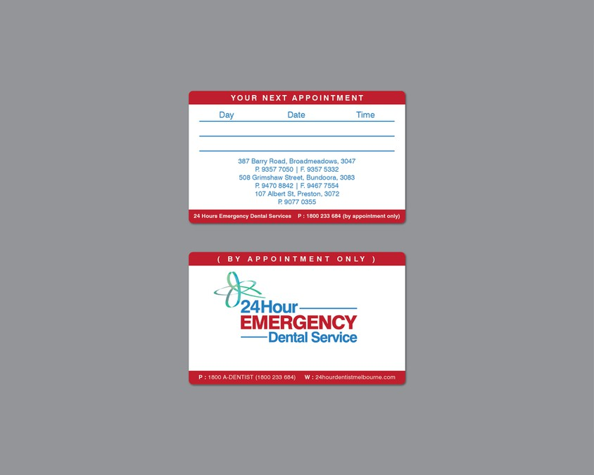 New logo and business card wanted for 24 Hour Emergency