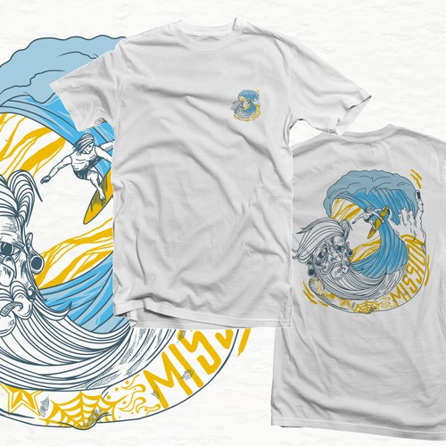 Design a cool surf style t-shirt for adventure company Design by Ek_ky