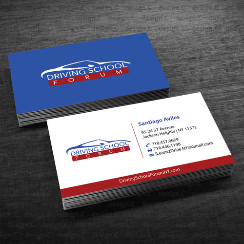 Driving School Business Card With Style