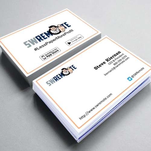 Contemporary business card for mobile technology company for Contemporary business card design