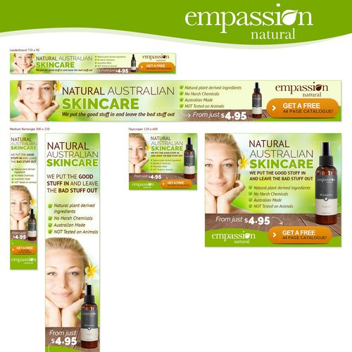 Banner Ads Natural Skin Care Banner Ad Contest 99designs