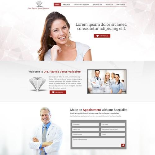Clinica odontológica Dra. Patricia Venus Verissimo - SITE Design por Design Injector