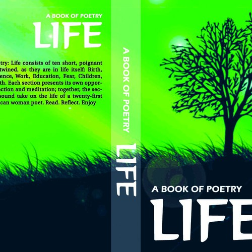 Poetry Book Cover Up ~ Design a poetry book layout and cover with supplied photos
