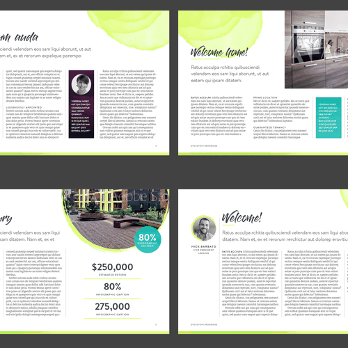 Indesign Proposal Template For Innovative Commercial Real Estate Firm Brochure Contest 99designs