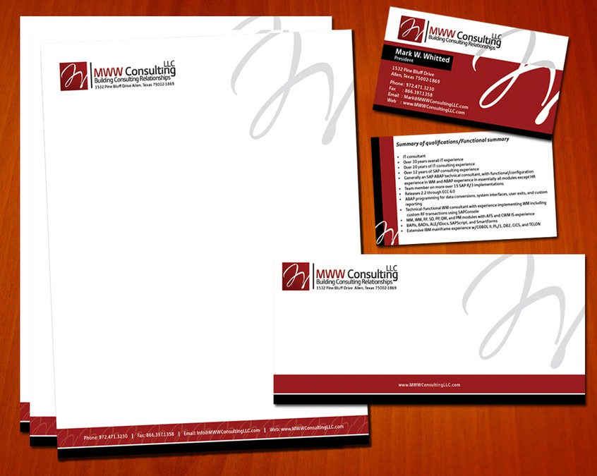 i need business cards stationary for my it consulting business