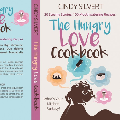 Romance Book Cover Up : Book cover for humorous sexy cookbook meets