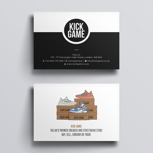 Design A Cool Creative Business Card For A Leading Sneaker Streetwear Brand Business Card Contest 99designs
